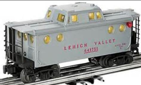 LIONEL TRAINS LEHIGH VALLEY PORT HOLE CABOOSE - Outlets Lehigh Valley