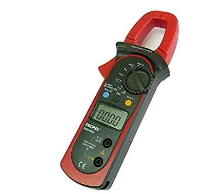 Tecpel 3999 Count 40A/ 400A Digital AC DC Current clamp Multimeters, Clamp Meter, Auto-Ranging Multimeter AC/DC voltmeter with Voltage, AC DC Amp, Volt, Ohm, Frequency and Resistance Test DCM-033A