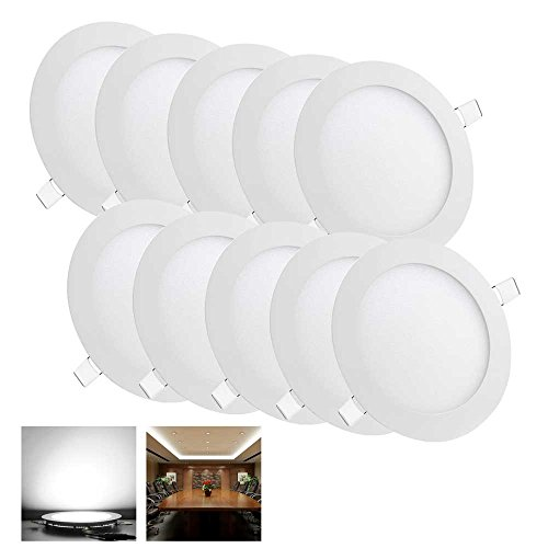 New 10 Pcs Round 9W SMD LED Recessed Ceiling Panel Down Light Bulb Lamp W/ Driver