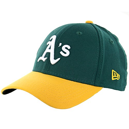 MLB Oakland Athletics Team Classic Home 39Thirty Stretch Fit Cap, Green, Small/Medium