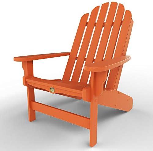 Original Pawleys Island DWAC1OR Durawood Essentials Adirondack Chair, Orange