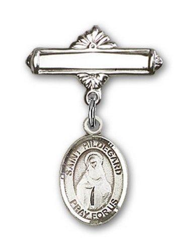 Icecarats Créatrice De Bijoux En Argent Sterling St. Hildegard Von Bingen Charme Broche De Badge 1 X 5/8