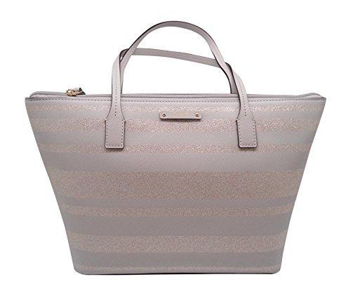 Kate Spade New York Haven Lane Hani Shoulder Handbag  Grey Glitter Stripe