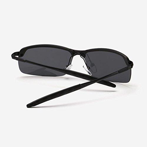 Libre WYYY Clásico Conducción Gafas Black Gafas Solar Hombres Green Color Medio Anti Black 100 Luz black Protección Sol Marco Aire Retro De UVA Protección UV Gafas Polarizada De wfrPn7fxq