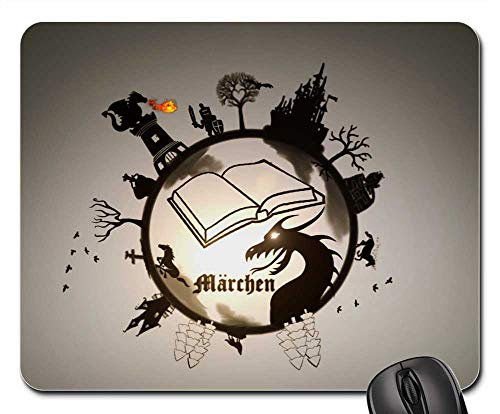 Mouse Pad - Fairy Tales Dragon Castle Princess Knight Book