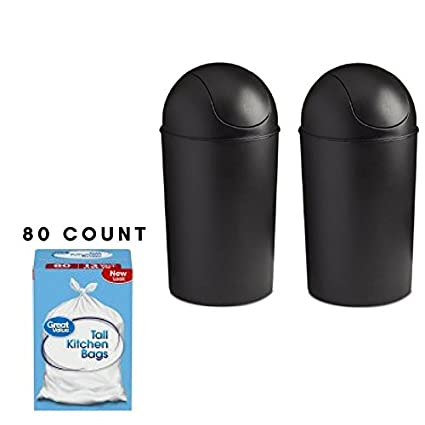 Umbra Grand 10 Gallon Trash Can, Works With Large Kitchen Trash Bags, Ideal  For
