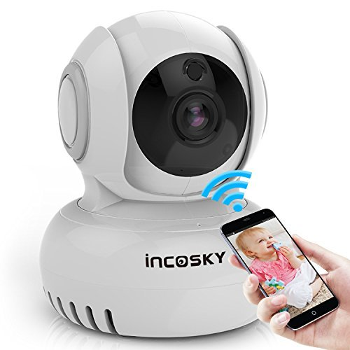 Security Camera Multiplexer (Wireless Security Camera incoSKY 1080P WiFi IP Dome Camera with Motion Detection Two-Way Audio Pan/Tilt Night Vision for Baby Monitoring Home Surveillance, BD1)