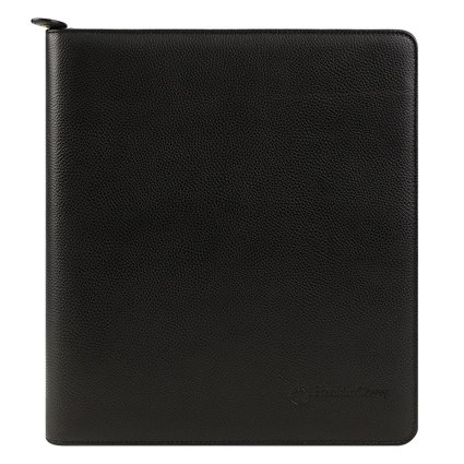 Monarch Tyler Leather Zipper Binder - Black (Franklin Covey Black Pocket)