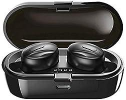 2020 Bluetooth 5.0 Wireless-Ohrhörer mit Stereo-Mikrofon und Ladekoffer Bis zu 15 Stunden Spielzeit für Sport