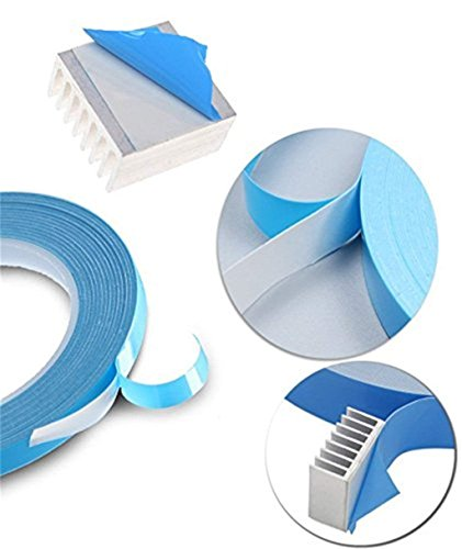 AIYUNNI 20mm x 25M x 0.25mm Thermal Adhesive Tape High performance Thermal Double Side Tapes Cooling Pad Apply to Heatsink LED IGBT IC Chip Computer CPU GPU Modules MOS tube SSD Drives by AIYUNNI (Image #5)