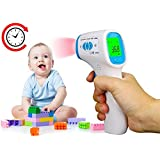 CattleBie Baby Thermometer Digital Body Temperature Fever Measurement Forehead Non-Contact Infrared LCD IR Thermometer (Color : Multi-colored)