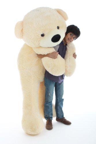 buy giant teddy life size stuffed teddy bear 6 feet color cream
