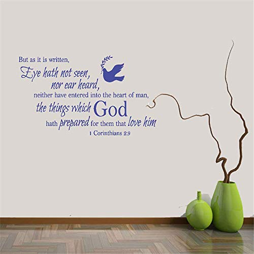 Tiude Quote Mirror Decal Quotes Vinyl Wall Decals Wall Decal Quote But As It is Written Eye Hath Not Seen Nor Ear Heard Neither Have Entered Into The Heart of Man 1 Corinthians 2:9