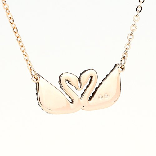 8da3a8af9ef7a Swarovski Iconic Swan Double Necklace, Black 5296468 Length: 14 7/8 inches