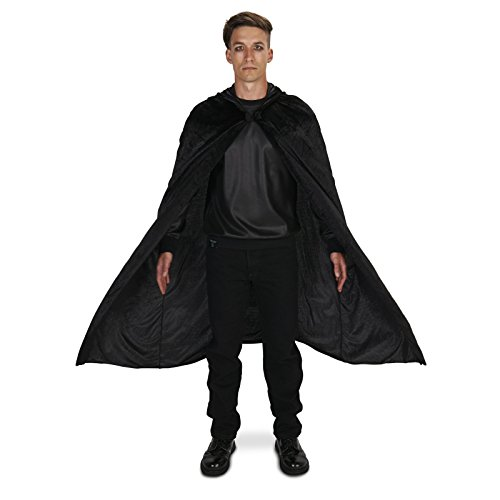 Black Velvet Adult Plus Cape One Size (Heroes And Villains Clothing)