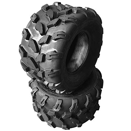 Set Of 2 ATV UTV 18X9.5-8 Rear Left And Right Tubeless Sport Tires 4 Ply Load Range B Z-124 ATV UTV Off-Road All-Terrain Tires (Off Road Tire And Wheel Packages Cheap)