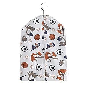 Bedtime Originals Baby League Sports Animals Diaper Stacker, White
