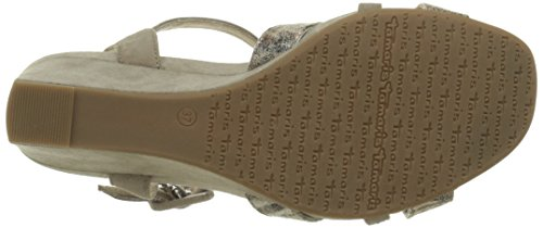 Slingback Tamaris Braun Heel 28301 Sandals Wedge Comb 301 Brown Women's pepper xfnqU4nFP