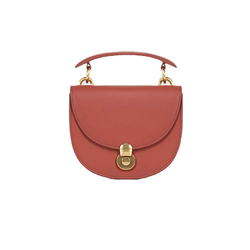 女性のショルダーバッグ、ファッションレザーハンドバッグソリッドカラーチェーンハンドバッグロックサドルバッグ野生のメッセンジャーバッグ B07RWN4J96 red