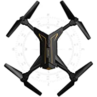 ZZSYU Foldable Headless RC Drone 2.4Ghz 4CH 6Axis Gyro RC Quadcopter W/ Camera KY601 (Gold)
