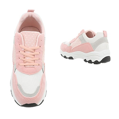 Piatto 113 Sneaker Scarpe Rose Donna Low Ital Sneakers G Bianco design Da w1B41xXq