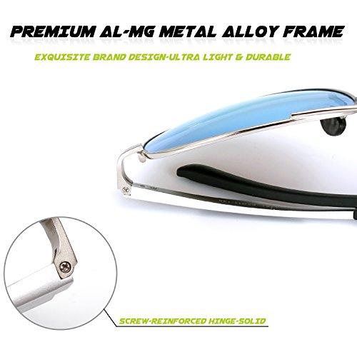 soleil Argenté 3 lunettes polarisées Hinges Premium Al Mg Bleu MOS1 GQUEEN Spring Pilote de q0PTf7