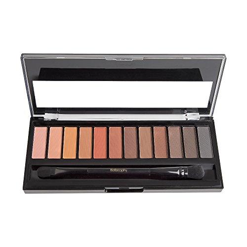Bellasophy Professional Long Lasting Matte Smooth Waterproof Eyeshadow Palette Powder 12 Colors Makeup by Bellasophy