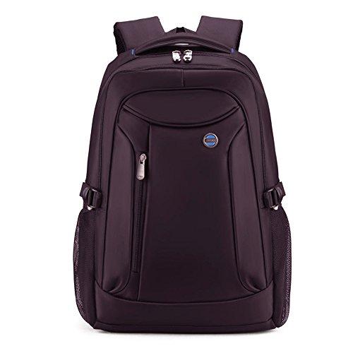 Männer Frauen Große Kapazität Laptop Backpacks Rucksäcke 17 Aktentasche Notebook Computer Rucksack Daypacks Schultaschen Reisetasche Wanderntasche (Schwarz) Dunkelviolett hNKbfyah