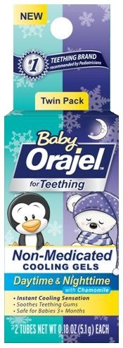 Orajel Non-Medicated Baby Teething Day & Night Cooling Gels