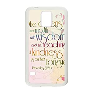 Strength And Dignity Samsung Galaxy S5 Cell Phone Case White Edvxg