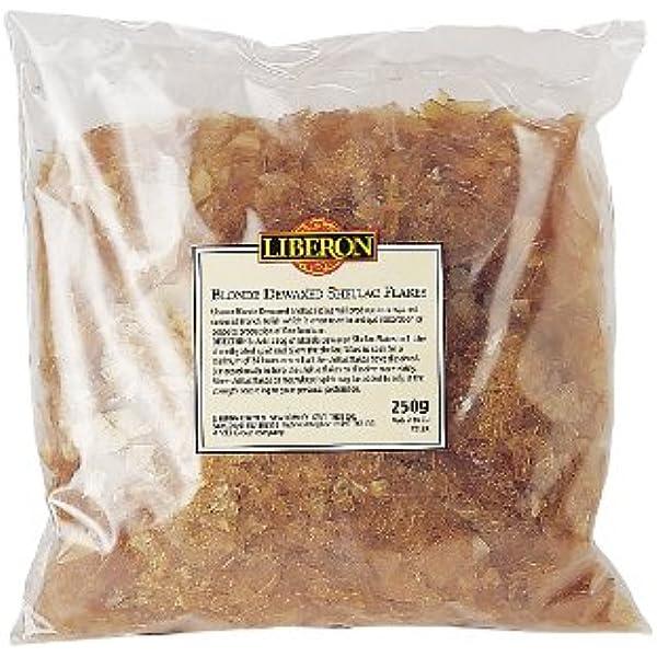 Liberon LIBBDS250G - Goma laca rubia en escamas, 250 g: Amazon.es ...