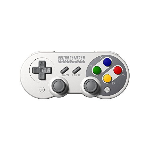 8Bitdo SF30 Pro Wireless Bluetooth Controller Gamepad Dual Classic Joystick for Windows, Mac OS, Android, Linux, Raspberry Pi, Steam, etc., Compatible with Nintendo Switch, with Extra Carrying Bag