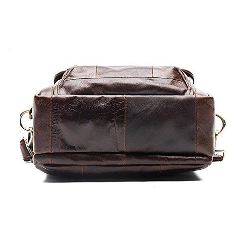 3 Capacity Leather Sucastle Vintage 1 Men's Messenger Bags Briefcases Design Large Shoulder gcpcqRZ