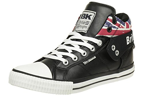 British Knights ROCO BK men trainer Sneaker british flag B40-3703-15 black, shoe size:EUR 41
