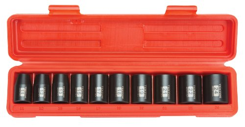 Shallow Metric Socket (TEKTON 1/2-Inch Drive Shallow Impact Socket Set, Metric, Cr-V, 6-Point, 11 mm - 24 mm, 10-Sockets | 4815)