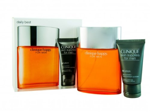 CLINIQUE 2 Piece Happy Cologne Spray & Lotion Set for Men by Clinique