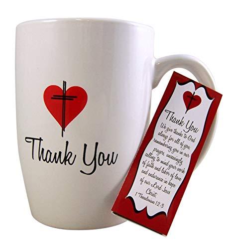 Thanking God 1 Thessalonians 1:2-3 Mug and Bookmark Gift Set, 16 oz ()