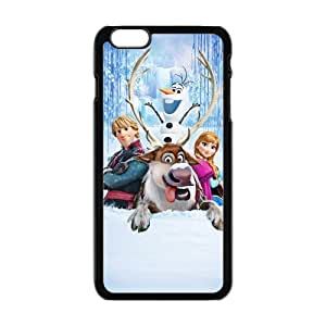 Happy Frozen Princess Anna Kristoff Olaf Sven Cell Phone Case for Iphone 6 Plus