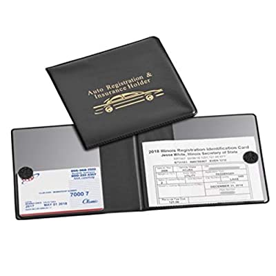 Must-Have Car Registration Wallet, Black Auto Document Wallet Holders 2 Pack- {Sale-2 Pack}- Automobile, Truck, Motorcycle, Trailer & R. Vinyl ID Holders & Visor, Glove Box Storage.: Home Improvement [5Bkhe2000956]