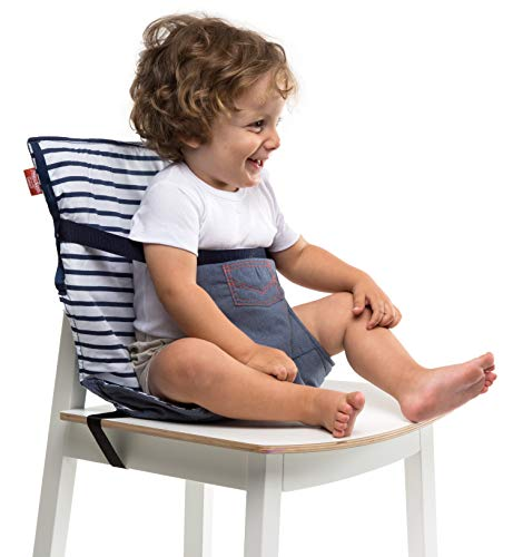 Baby-to-Love Pocket Chair, Baby Portable High Chair for Travel (Denim) (My Little Travel High Chair)