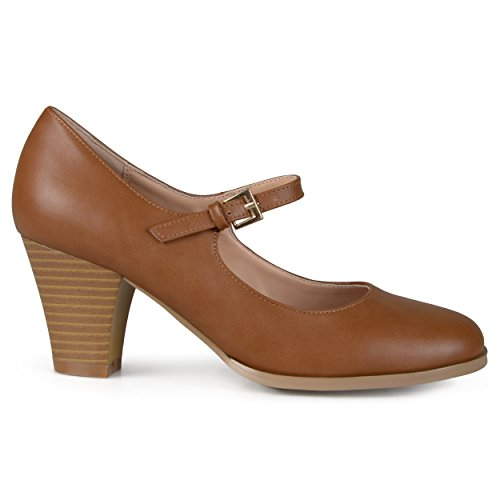 Suede Jane Mary Brown - Brinley Co. Womens Mary Jane Classic Pumps Camel, 10 Regular US