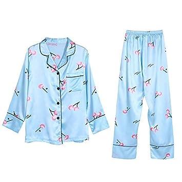 DALAI Simulation Silk Pajamas Seven-Piece Female Summer Thin Silk Sexy ice  Silk Sling Spring 194cae9a5