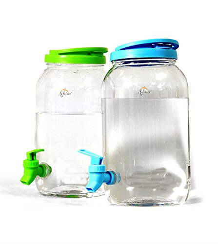 6L DOUBLE DRINKS DISPENSER- Includes 2X 3L PLASTIC JUG MASON JAR HOME PARTY...
