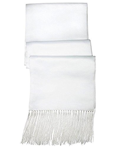 White Satin Formal Scarf