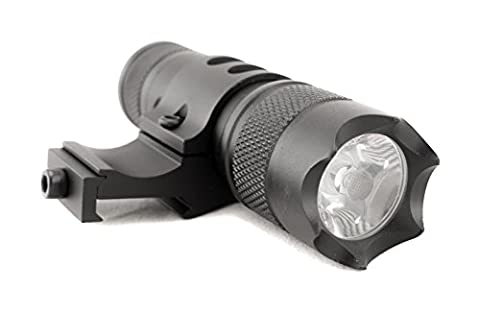 Monstrum Tactical 150 Lumens Flashlight with Remote Pressure Switch and Picatinny Rail Mount - Ar 15 Tactical Flashlights