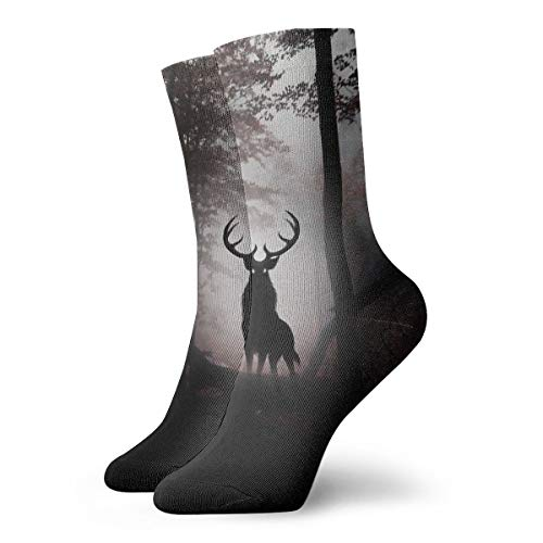 YUANSHAN Socks Deer King Women & Men Socks