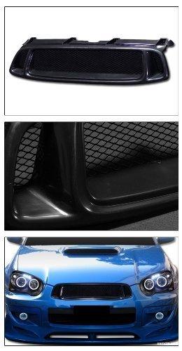 VXMOTOR for 2004-2005 Subaru Impreza WRX Sti Black Aluminum Mesh Front Hood Bumper Grill Grille (2004 Sti Hood)