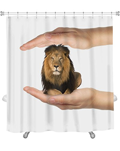 Gear New Leon On Two Hand with White Shower Curtain 74
