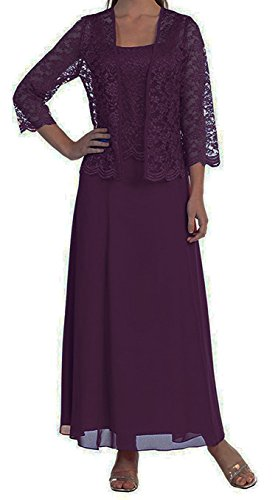 VaniaDress Women Lace A Line Long Evening Dress With Jacket V108LF Plum US26W from VaniaDress