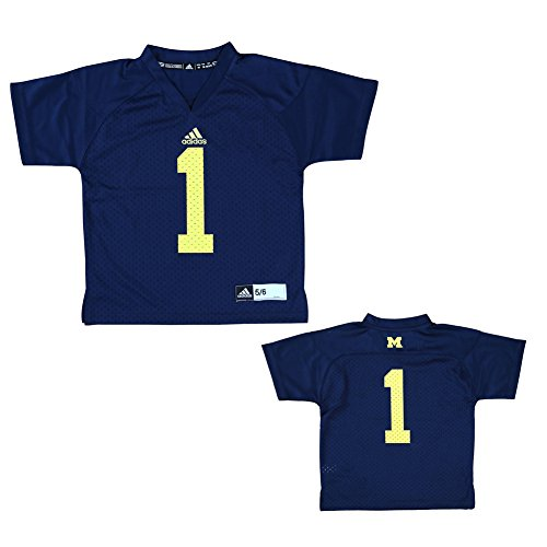Michigan Wolverines Youth Jersey #1 - M - Navy
